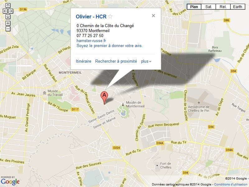 Adresse Olivier HCR : 0 chemin de la cote du change - 93370 Montfermeil