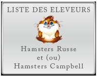 Liste des éleveurs de hamsters russe et campbell